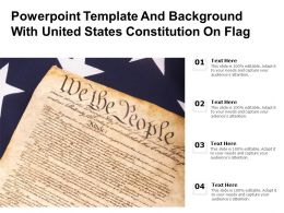 Powerpoint Template And Background With United States Constitution On Flag