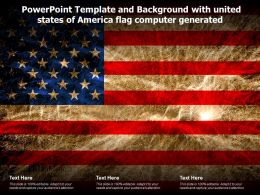Powerpoint Template And Background With United States Of America Flag Computer Generated