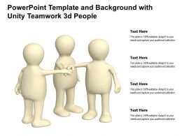 Powerpoint Template And Background With Unity Teamwork 3d People