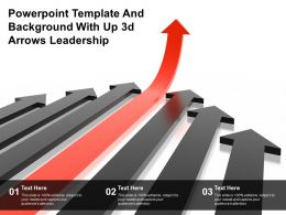 Powerpoint Template And Background With Up 3d Arrows Leadership