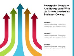 Powerpoint Template And Background With Up Arrows Leadership Business Concept