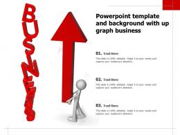 Powerpoint Template And Background With Up Graph Business