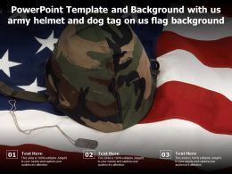 Powerpoint Template And Background With Us Army Helmet And Dog Tag On Us Flag Background