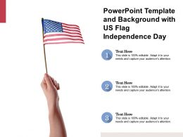 Powerpoint Template And Background With Us Flag Independence Day