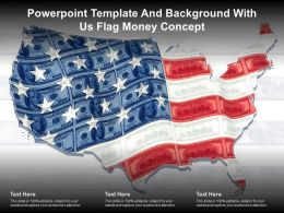 Powerpoint Template And Background With US Flag Money Concept