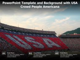 Powerpoint Template And Background With USA Crowd People Americana