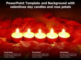 Powerpoint Template And Background With Valentines Day Candles And Rose Petals