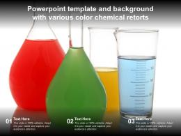 Powerpoint Template And Background With Various Color Chemical Retorts