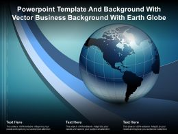 Powerpoint Template And Background With Vector Business Background With Earth Globe