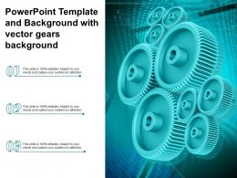 Powerpoint Template And Background With Vector Gears Background