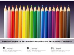 Powerpoint Template And Background With Vector Illustration Background With Color Pencils