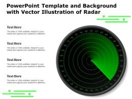 Powerpoint Template And Background With Vector Illustration Of Radar