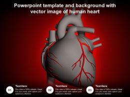 Powerpoint Template And Background With Vector Image Of Human Heart