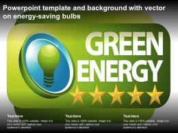 Powerpoint Template And Background With Vector On Energy Saving Bulbs