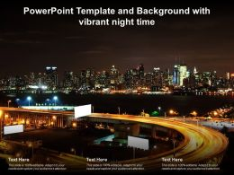 Powerpoint Template And Background With Vibrant Night Time