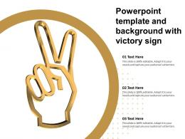 Powerpoint Template And Background With Victory Sign