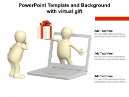 Powerpoint Template And Background With Virtual Gift