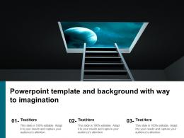 Powerpoint Template And Background With Way To Imagination