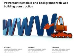 Powerpoint Template And Background With Web Building Construction