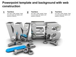 Powerpoint Template And Background With Web Construction