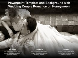 Powerpoint Template And Background With Wedding Couple Romance On Honeymoon