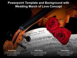 Powerpoint Template And Background With Wedding March Of Love Concept