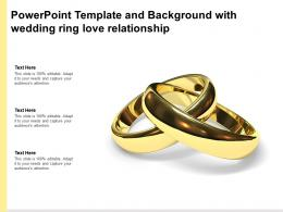Powerpoint Template And Background With Wedding Ring Love Relationship