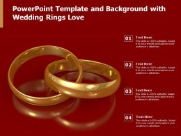 Powerpoint Template And Background With Wedding Rings Love