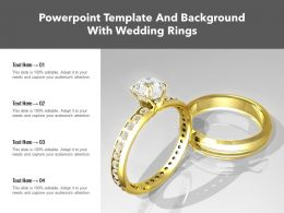 Powerpoint Template And Background With Wedding Rings