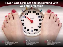 Powerpoint Template And Background With Weighting Machine