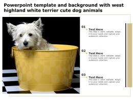 Powerpoint Template And Background With West Highland White Terrier Cute Dog Animals