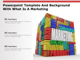 Powerpoint Template And Background With What Is A Marketing