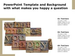 Powerpoint Template And Background With What Makes You Happy A Question