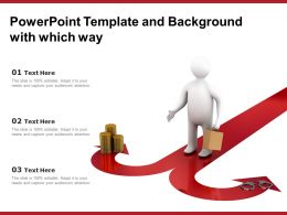 Powerpoint Template And Background With Which Way