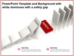 Powerpoint Template And Background With White Dominoes With A Safety Gap