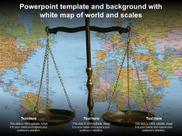 Powerpoint Template And Background With White Map Of World And Scales
