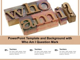 Powerpoint Template And Background With Who Am I Question Mark
