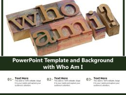 Powerpoint Template And Background With Who Am I