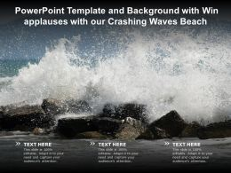Powerpoint Template And Background With Win Applauses With Our Crashing Waves Beach