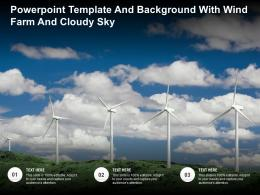 Powerpoint Template And Background With Wind Farm And Cloudy Sky