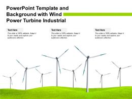 Powerpoint Template And Background With Wind Power Turbine Industrial