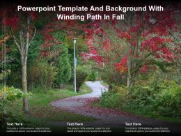 Powerpoint Template And Background With Winding Path In Fall
