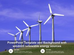 Powerpoint Template And Background With Windmill Renewable Energy sources