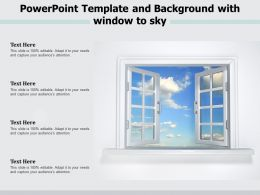 Powerpoint Template And Background With Window To Sky
