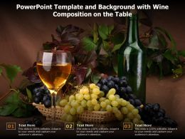 Powerpoint Template And Background With Wine Composition On The Table