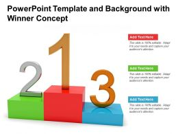 Powerpoint Template And Background With Winner Concept