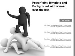 Powerpoint Template And Background With Winner Over The Lost