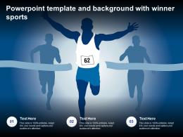 Powerpoint Template And Background With Winner Sports