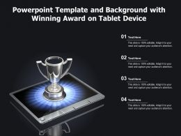 Powerpoint Template And Background With Winning Award On Tablet Device