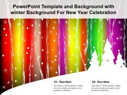 Powerpoint Template And Background With Winter Background For New Year Celebration